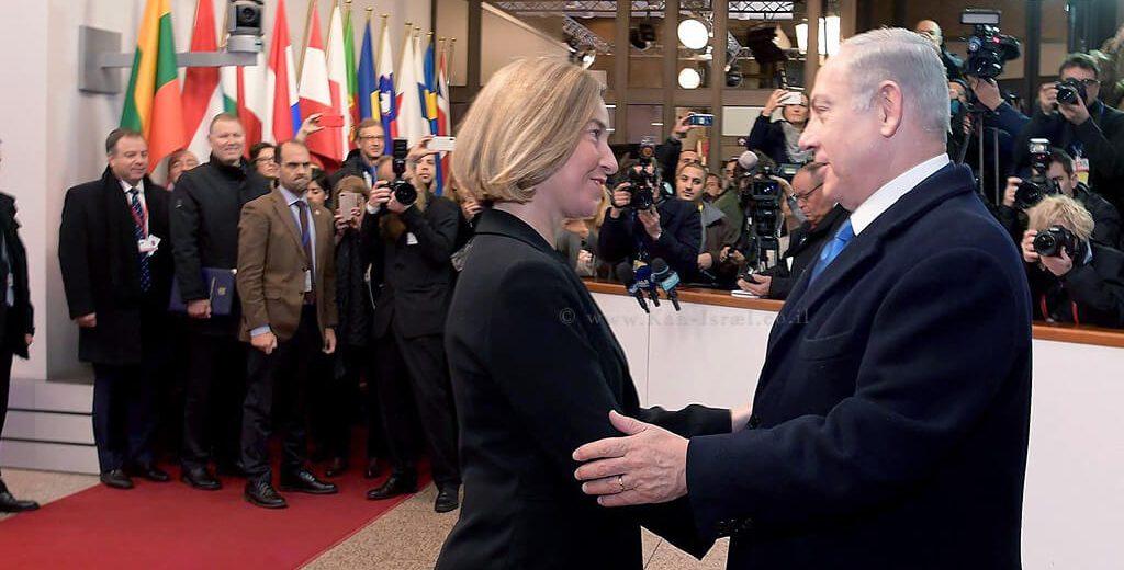 ראש הממשלה מר בנימין נתניהו במפגש עם שרת החוץ של האיחוד האירופי הגב' פדריקה מוגריני | צילום: לשכת העיתונות הממשלתית